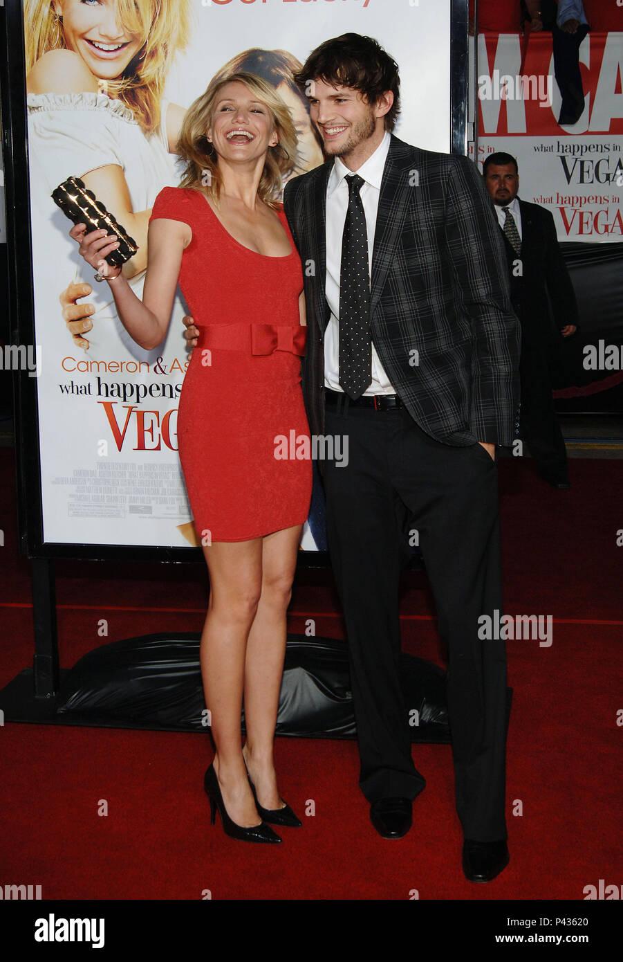 Ashton Kutcher Cameron Diaz What Happens In Vegas Premiere At