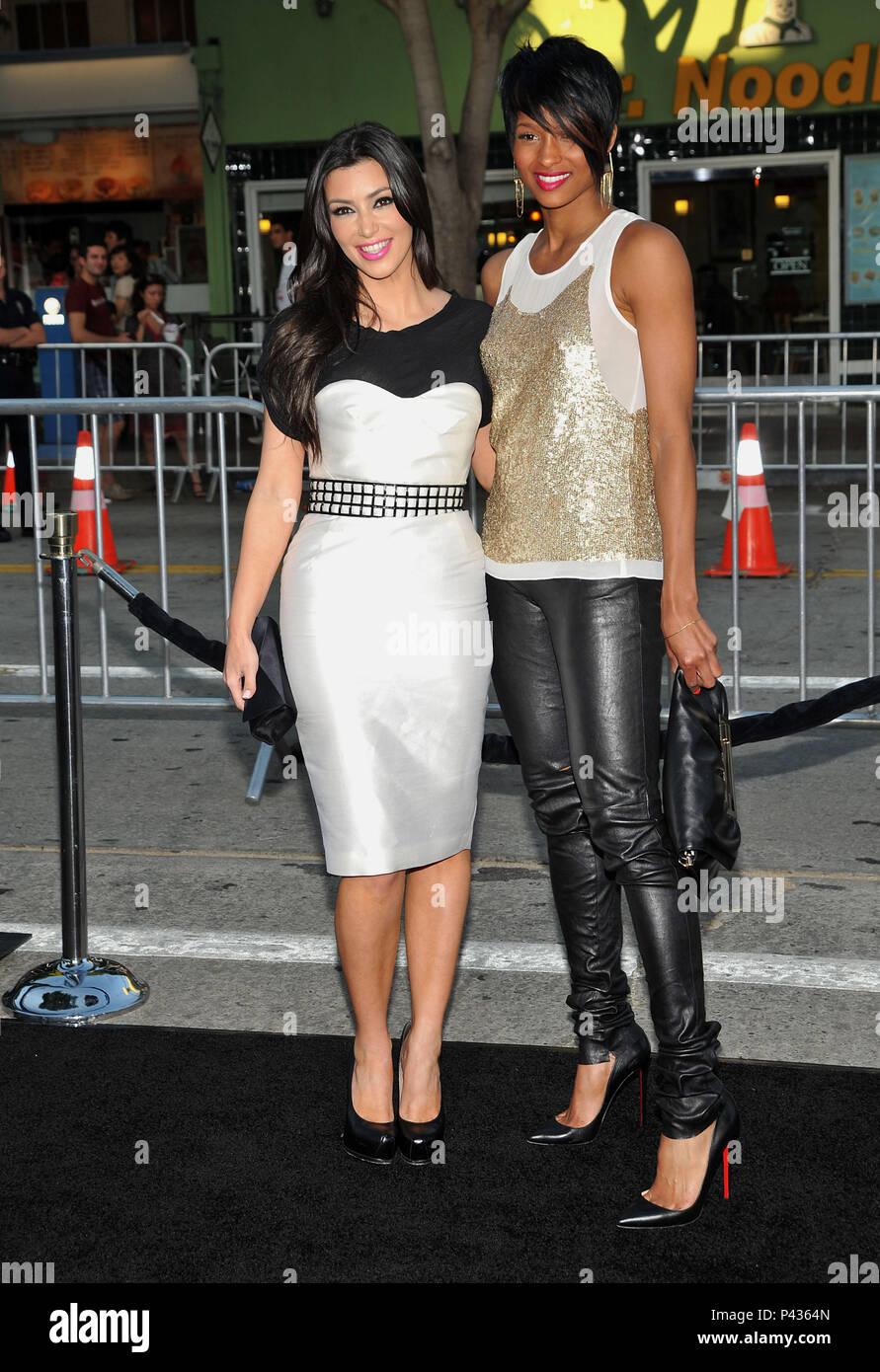 Ciara And Kim Kardashian Orphan Premiere At The Westwood
