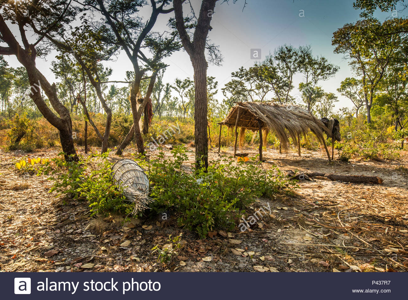 A built structure in Angola. - Stock Image