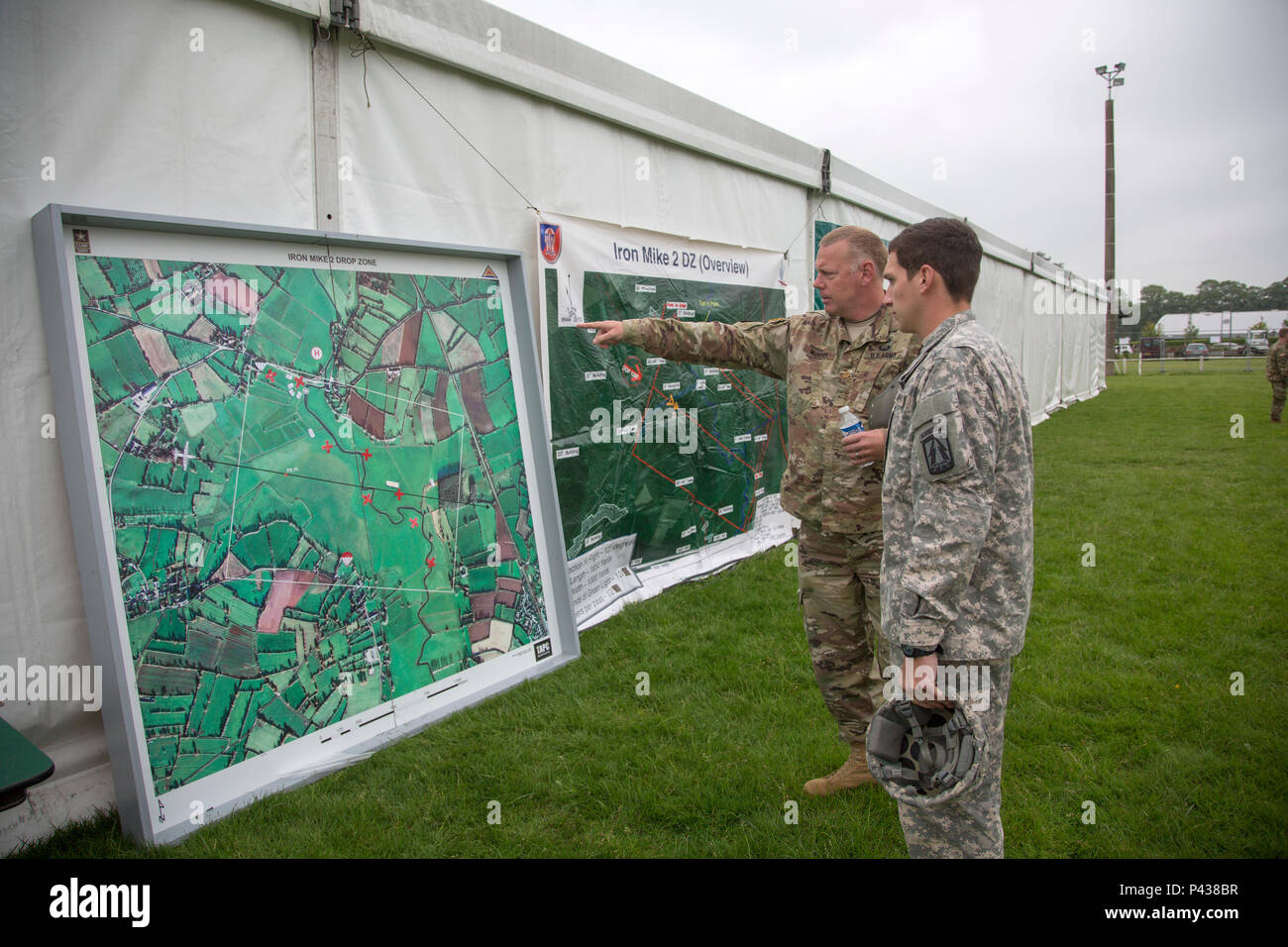 Map Of Drop Zones In France.U S Army Paratroopers Look At A Map Of The Dropzone During