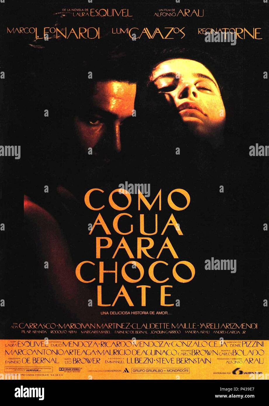 Original Film Title: COMO ÁGUA PARA CHOCOLATE.  English Title: LIKE WATER FOR CHOCOLATE.  Film Director: ALFONSO ARAU.  Year: 1992. Credit: IMCINE / Album - Stock Image