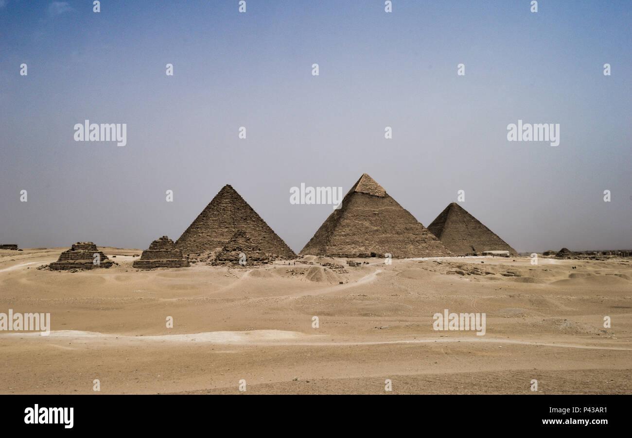 Giza Pyramids in Cairo - Stock Image