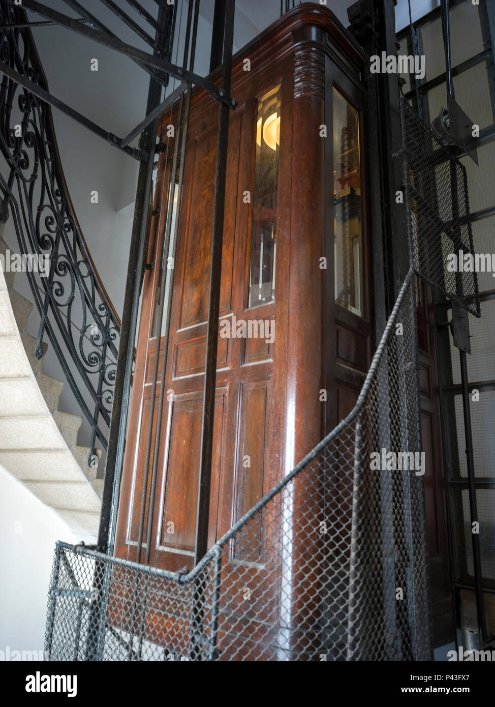 Wooden Elevator Next To A Staircase, Belgrade, Serbia