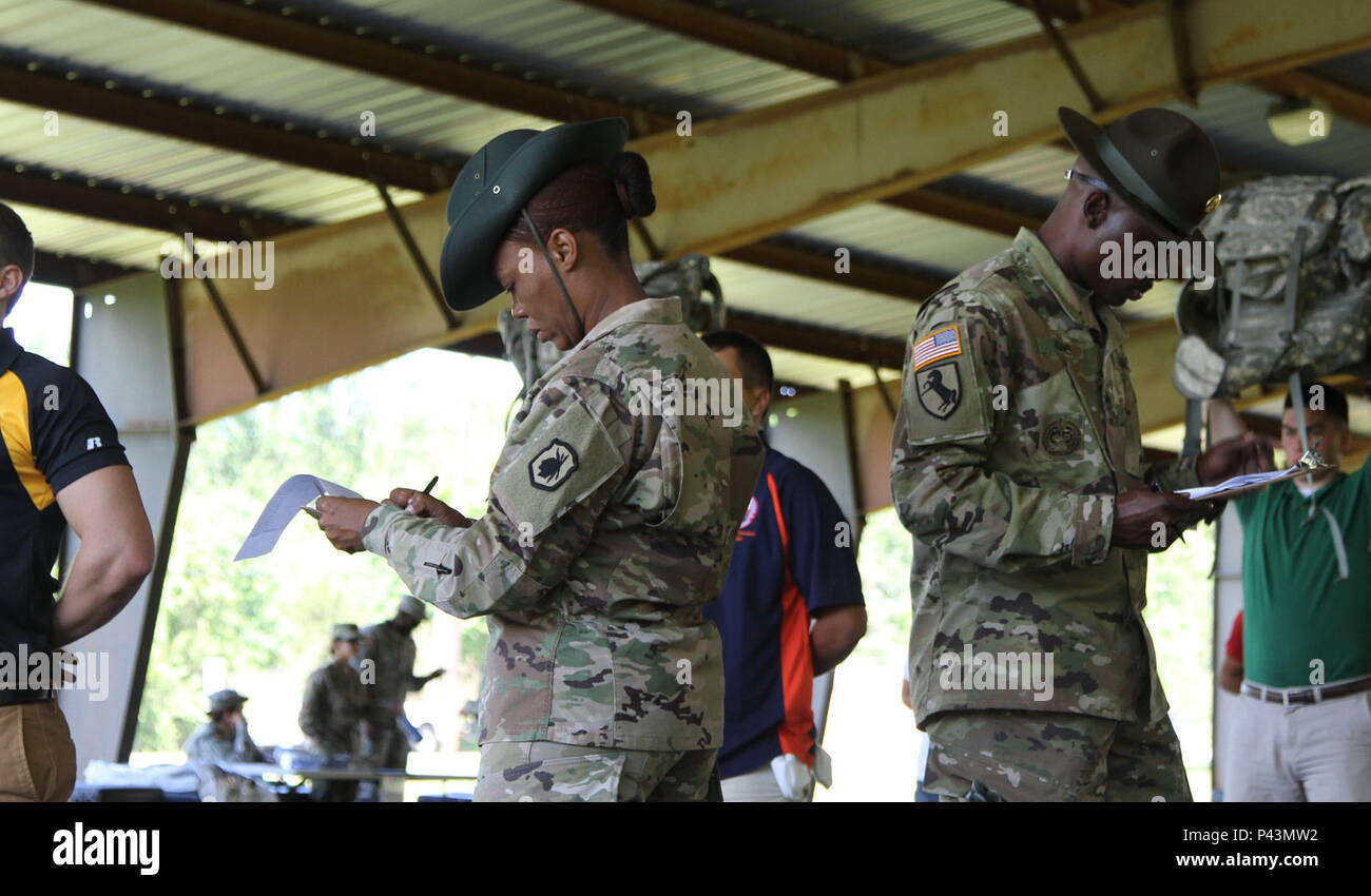 U S  Army Reserve drill sergeants inventory cadets' training