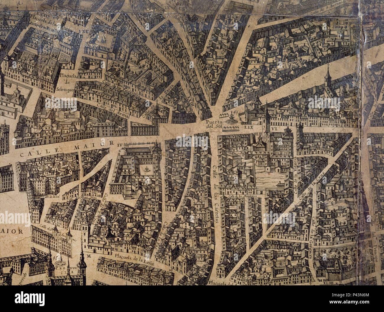 Mapa Puerta Del Sol.Plano Det Puerta Del Sol S Xvii Author Pedro Texeira