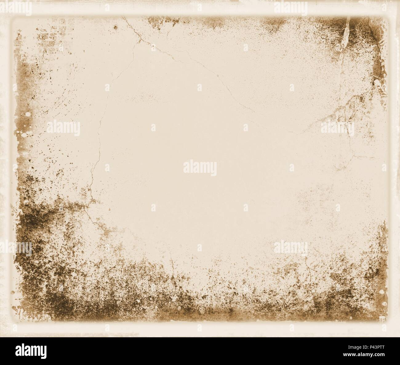 Vintage wall detail in retro style for texture or background. Sepia tones. - Stock Image