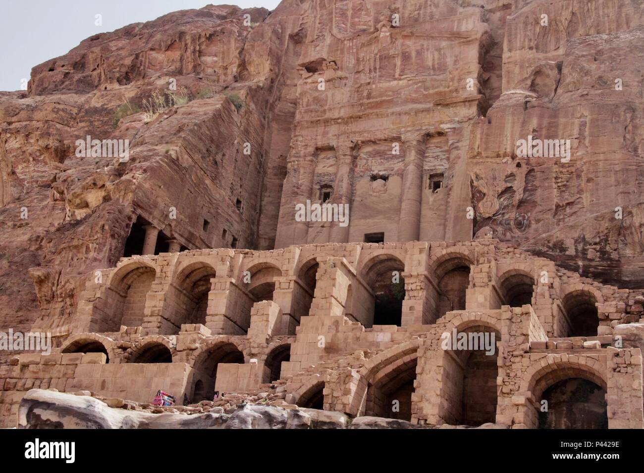 Tombs at Petra - Stock Image