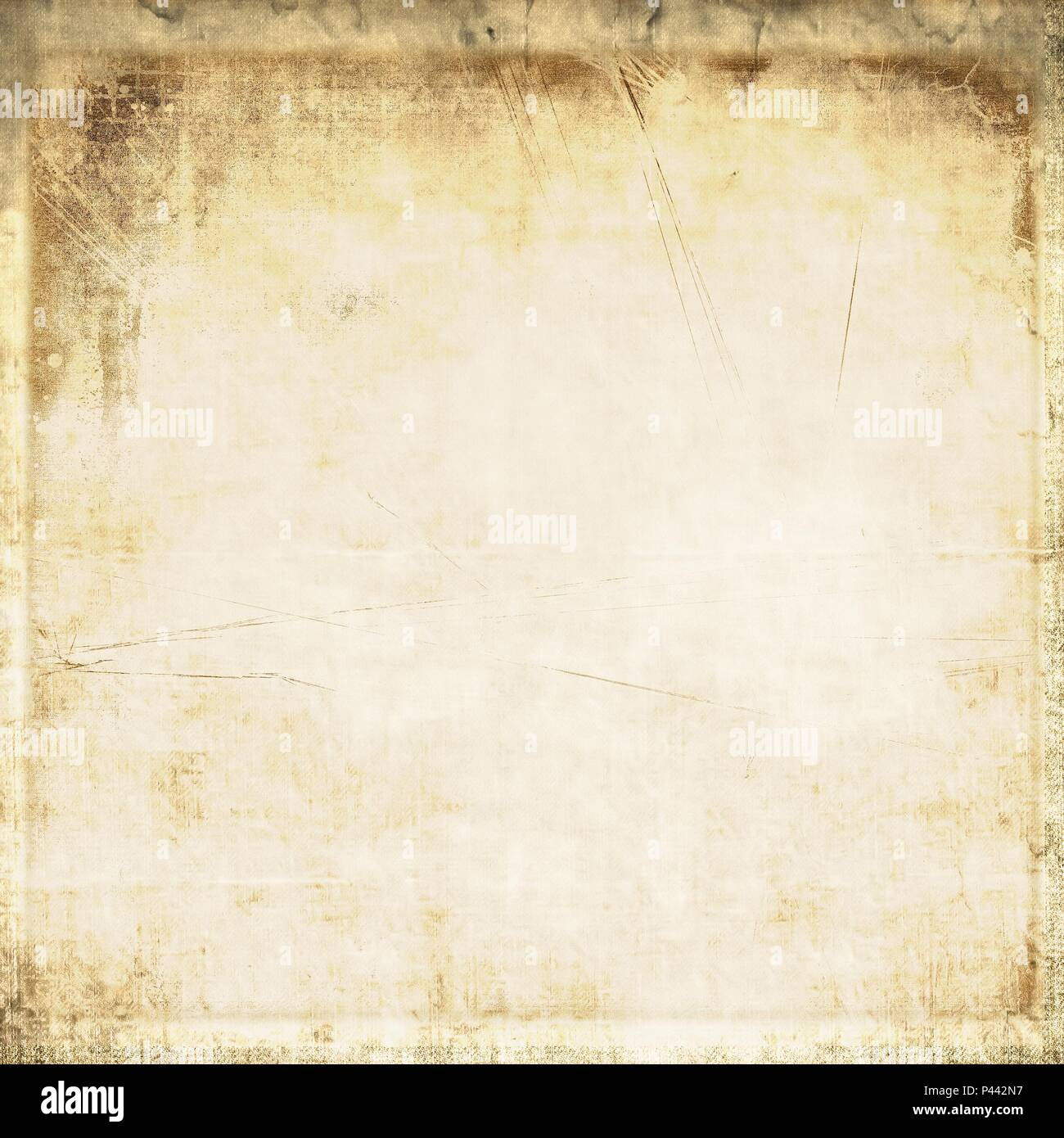 Vintage fabric texture background in sepia tones. - Stock Image