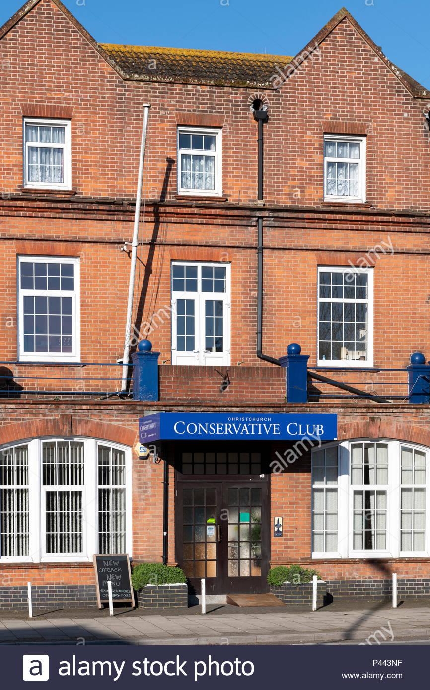 Conservative Club, Christchurch, Dorset, England, UK - Stock Image