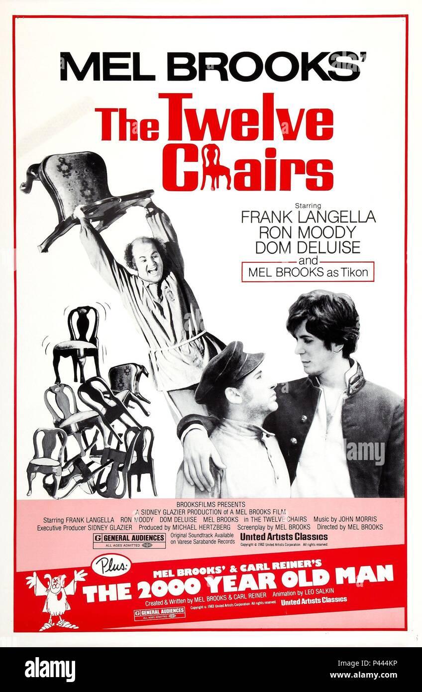 Original Film Title: THE TWELVE CHAIRS. English Title: THE TWELVE CHAIRS.  Film Director: MEL BROOKS. Year: 1970. Credit: COLUMBIA PICTURES / Album