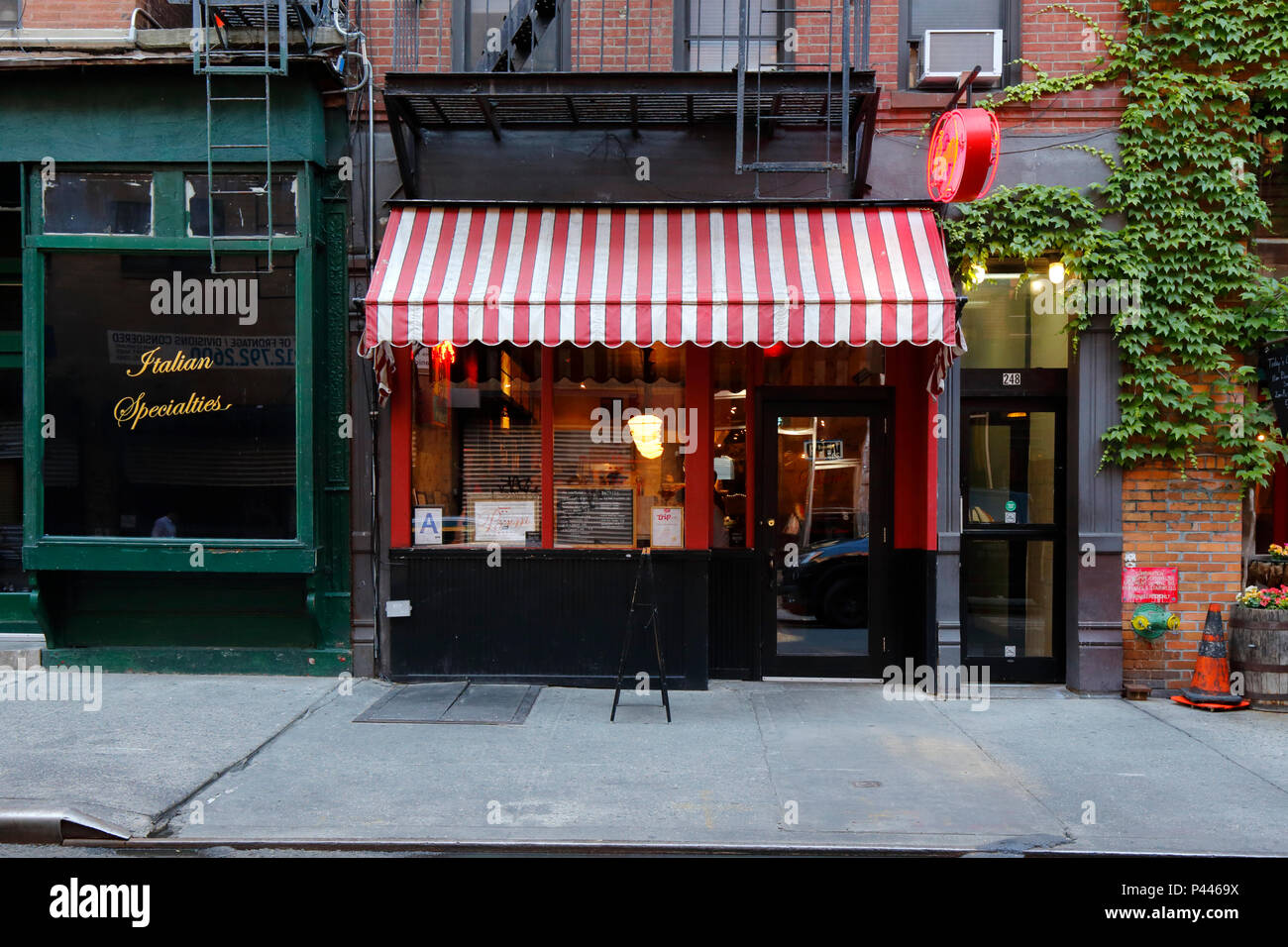 Parm 248 Mulberry St New York Ny Exterior Storefront Of An Italian Restaurant In The Nolita Neighborhood Of Manhattan Stock Photo Alamy