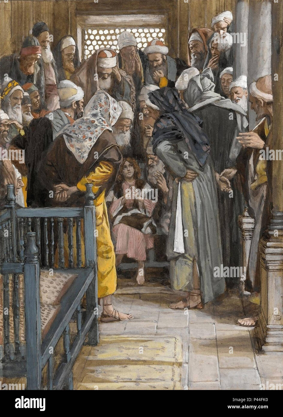 Tissot  James Jacques - the Life of Christ - Jesus Among the Doctors - Stock Image