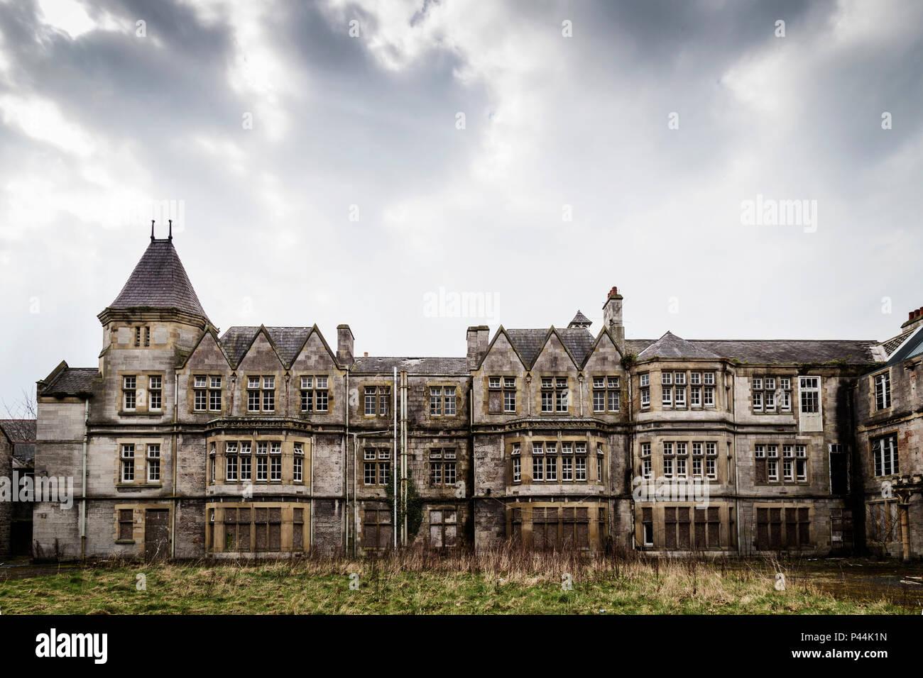 Derelict Denbigh Mental Asylum North Wales Stock Photo Alamy