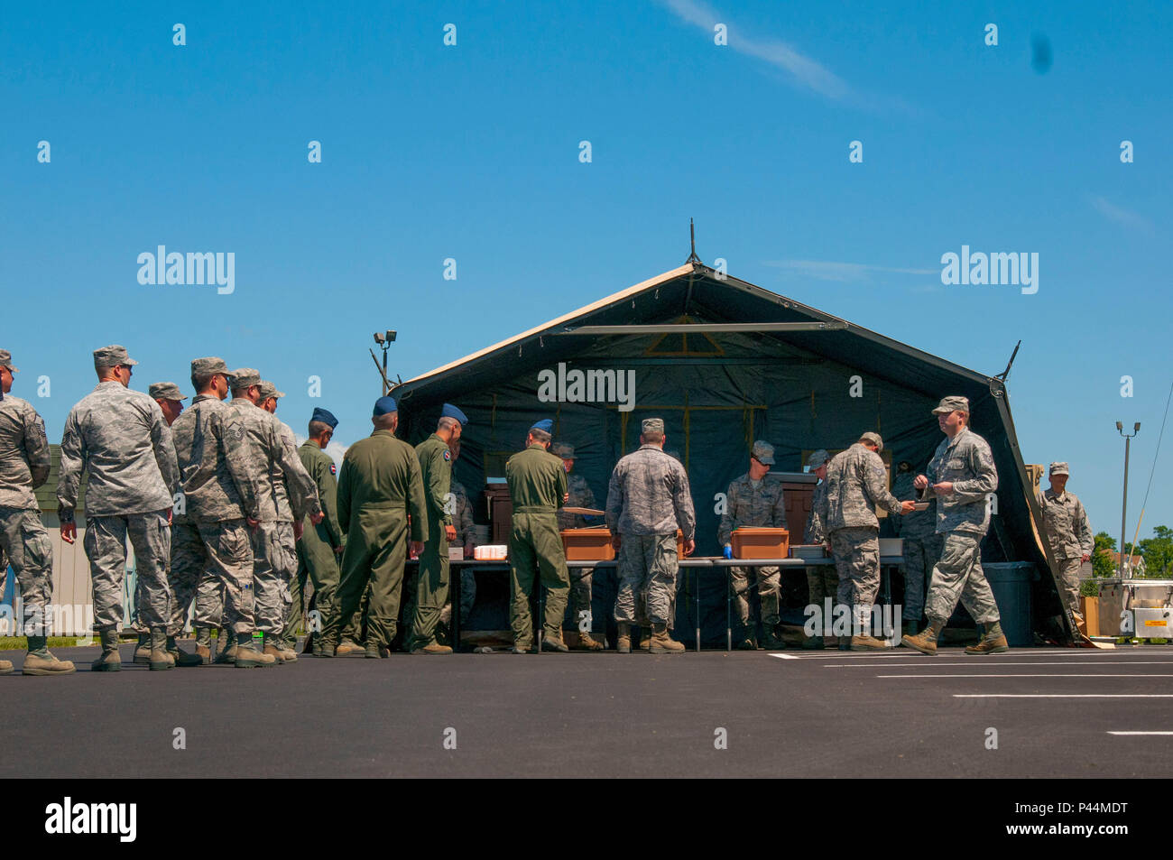 Unit members at the 167th Airlift Wing in Martinsburg, W.Va. stood ...
