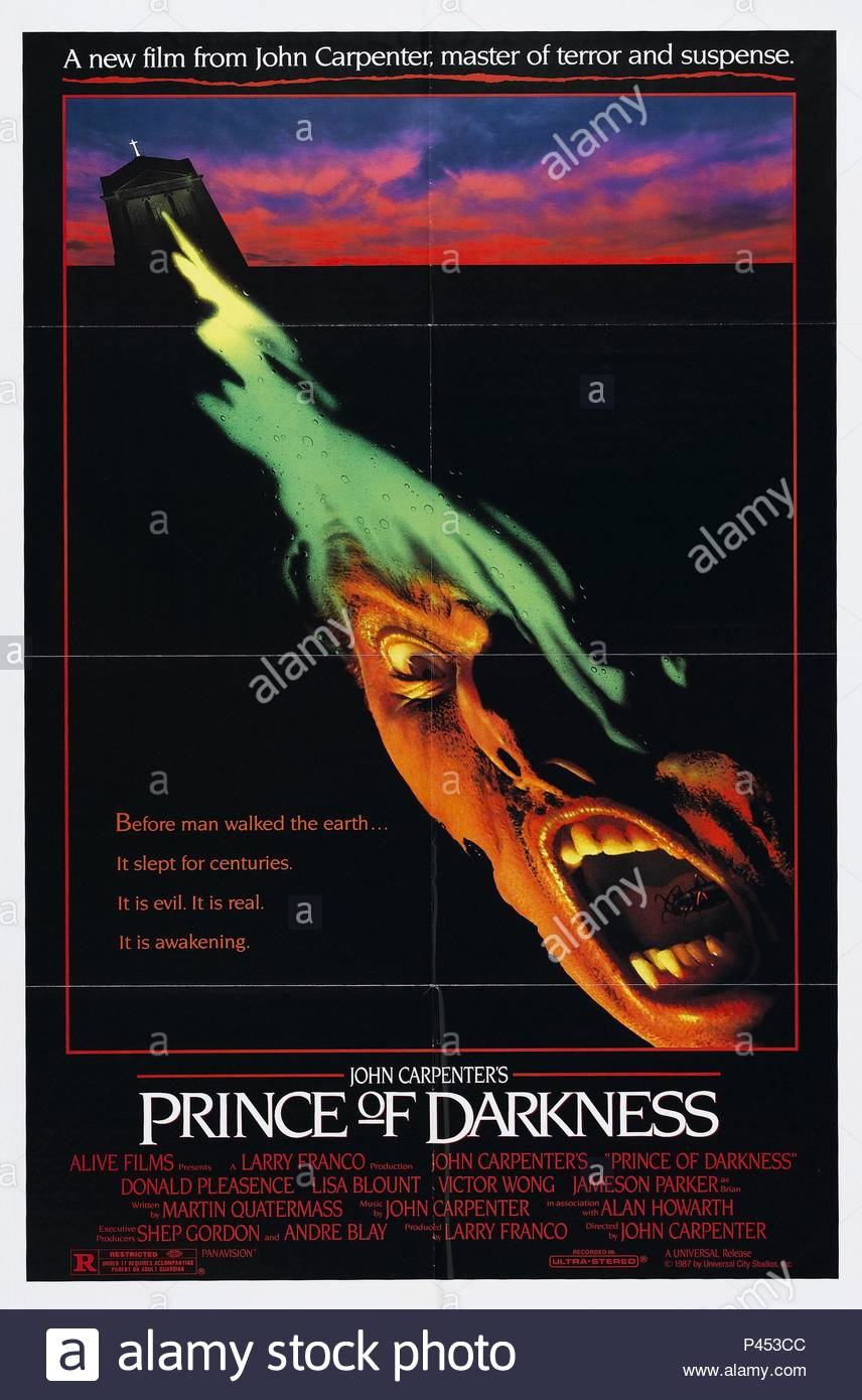 Original Film Title: PRINCE OF DARKNESS.  English Title: PRINCE OF DARKNESS.  Film Director: JOHN CARPENTER.  Year: 1987. - Stock Image
