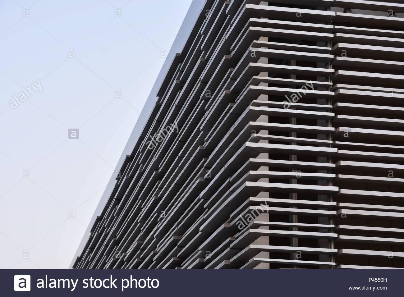 Modern facade steel cladding architectural elements detail