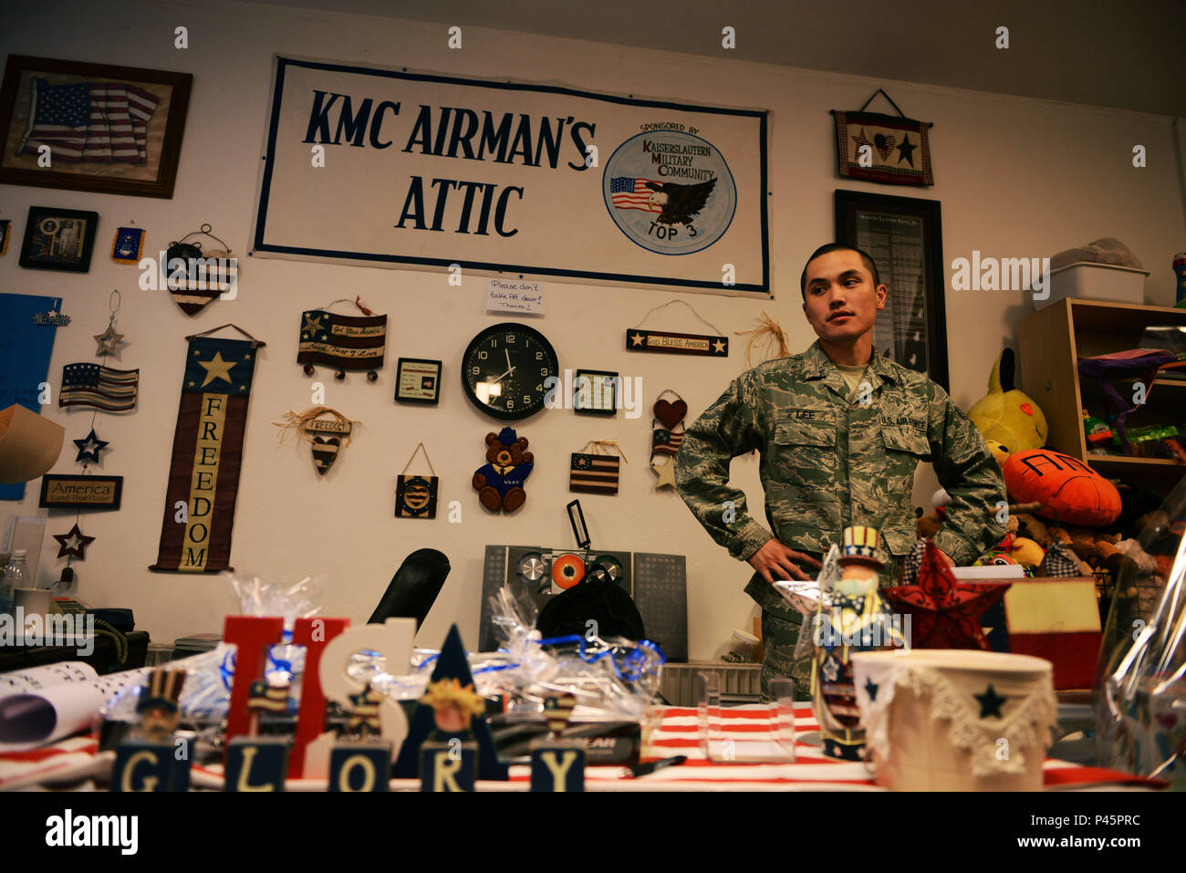 Senior Airman Nigel Lee 86th Logistics Readiness Squadron traffic management office member works at the Airmanu0027s Attic checkout desk at Ramstein Air Base ...  sc 1 st  Alamy & Senior Airman Nigel Lee 86th Logistics Readiness Squadron traffic ...