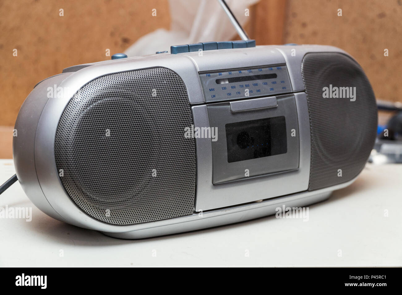 Old cassette Boombox - Stock Image