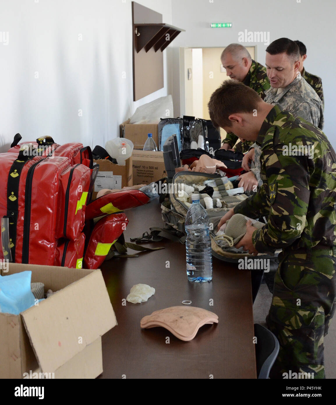 abe617916377 Romanian nurses and American instructors are prepping the medic bags for  their final evaluation training to determine their competency levels at at  Cincu ...