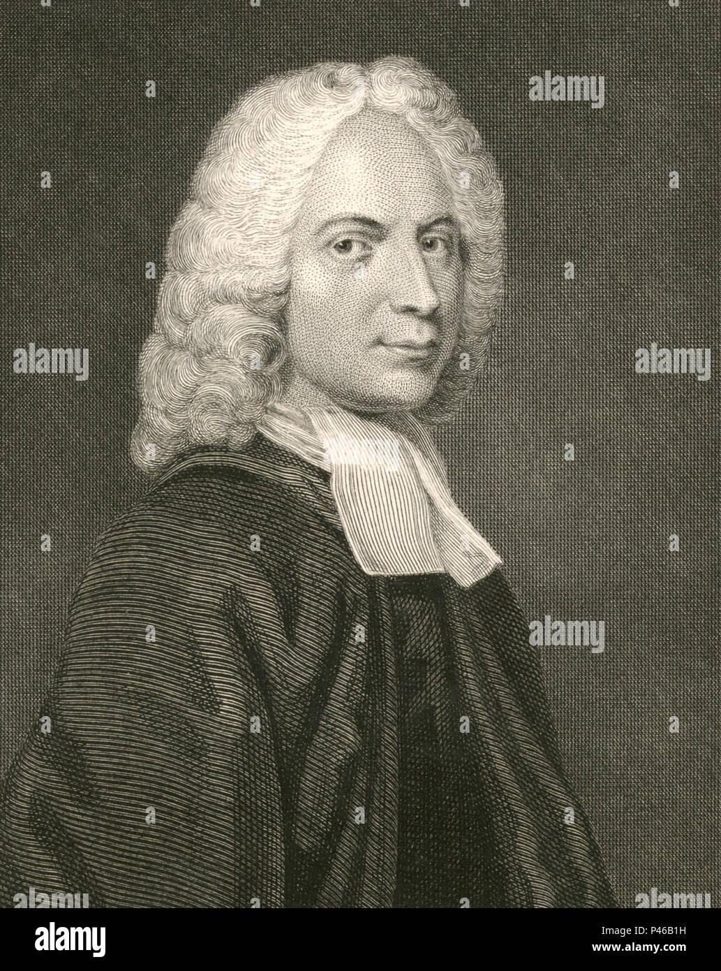 Isaac Watts (1674 – 1748) English Christian minister - Stock Image