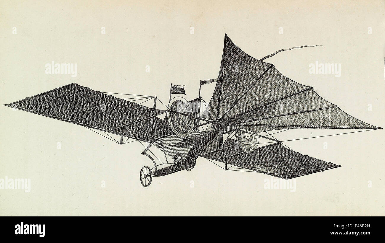Henson's aerial steam carriage by William Samuel Henson, aviation engineer and inventor. - Stock Image