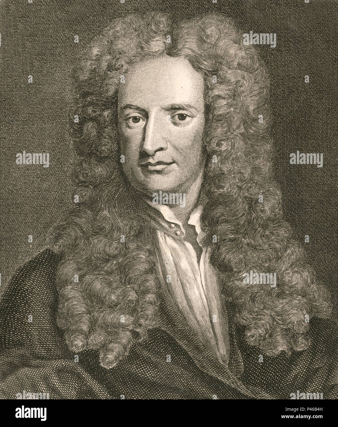 Sir Isaac Newton (1642 – 1726/27) English mathematician, astronomer, physicist - Stock Image