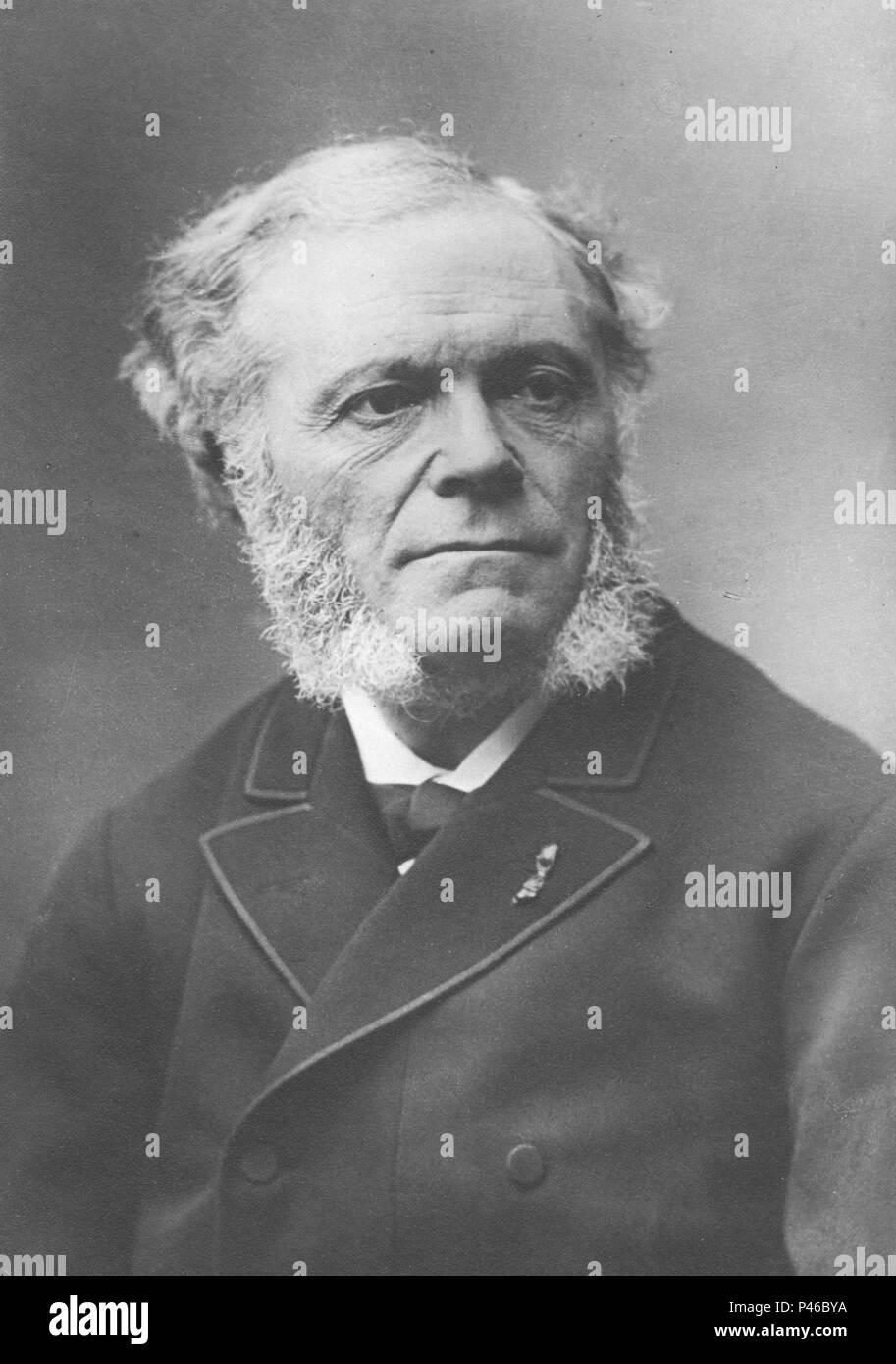 César-Auguste-Jean-Guillaume-Hubert Franck (1822 – 1890) composer, pianist - Stock Image