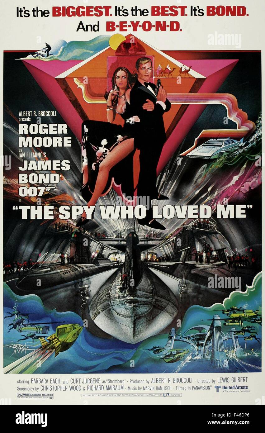 Original Film Title: THE SPY WHO LOVED ME.  English Title: THE 007, JAMES BOND: SPY WHO LOVED ME.  Film Director: LEWIS GILBERT.  Year: 1977. Credit: EON PRODUCTIONS / Album - Stock Image