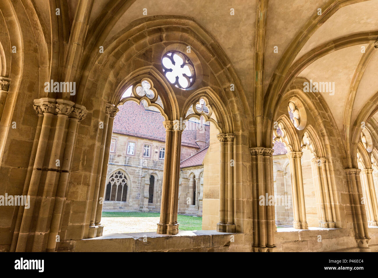 Maulbronn, Germany. Cloister of Maulbronn Monastery (Kloster Maulbronn), a former Roman Catholic Cistercian Abbey. World Heritage Site since 1993 Stock Photo