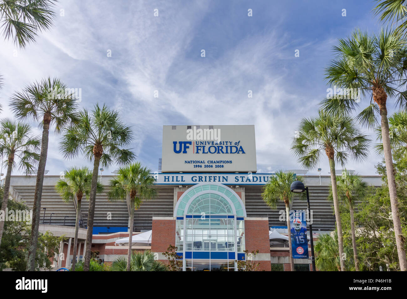 Steve Spurrier-Florida Field at Ben Hill Griffin Stadium ('The Swamp') at the University of Florida on September 12, 2016 in Gainesville, Florida. - Stock Image