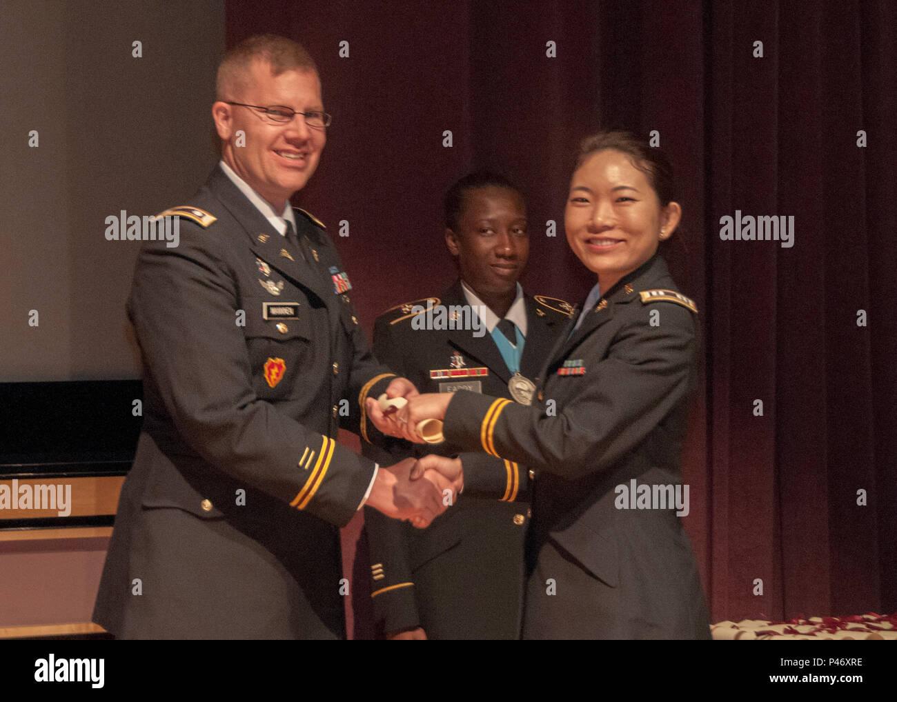 Capt  Tianyi Li (right), a native of New York and graduate