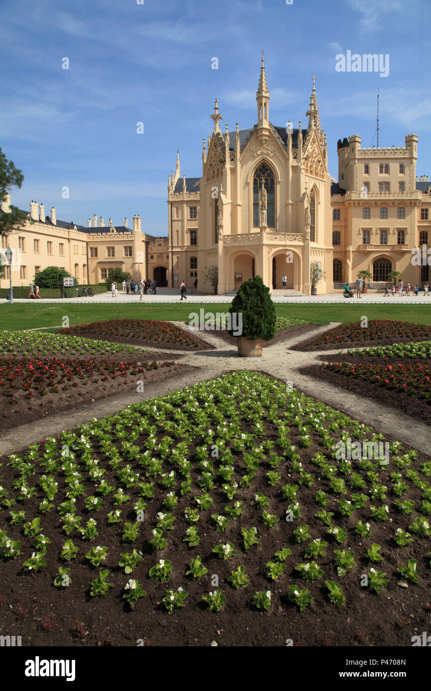 Czech Republic, Moravia, Lednice, Castle, garden, park Stock Photo ...