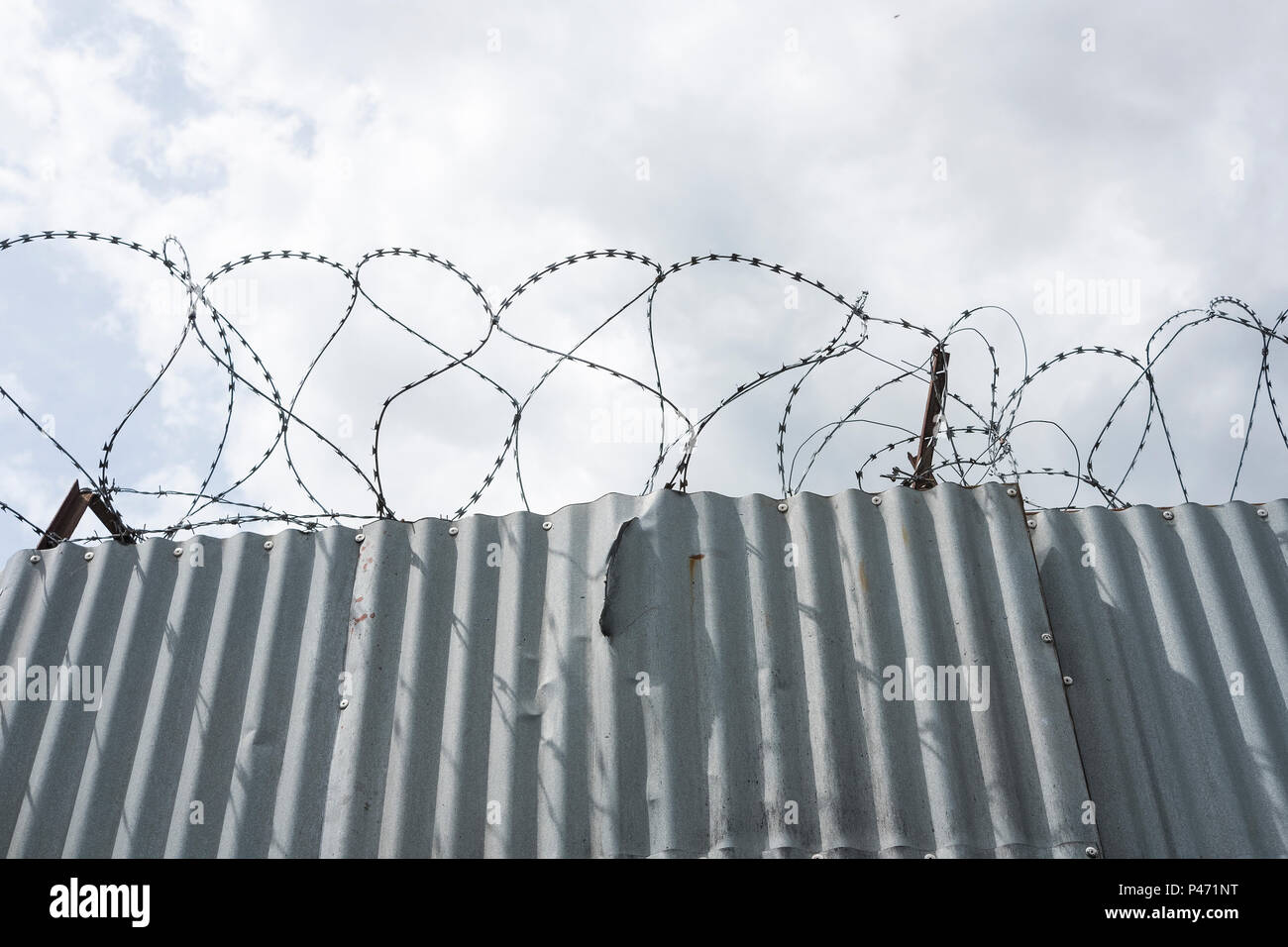 Tall Steel Fence Stock Photos & Tall Steel Fence Stock Images - Alamy