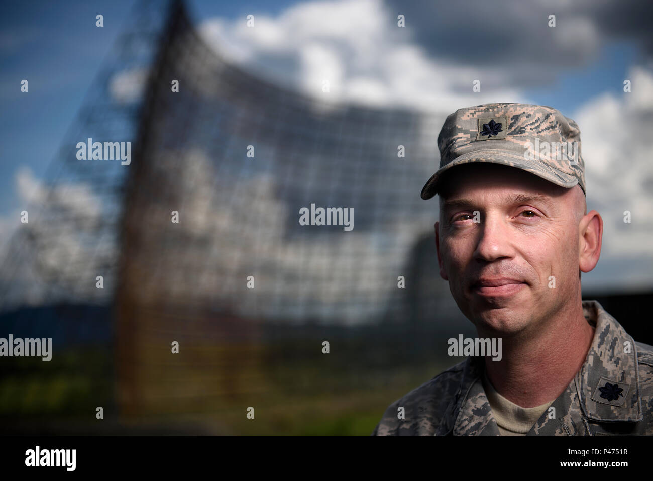 Lt. Col. Jason Budnick is the installation commander at Clear Air Force Station, Alaska. The base was created as the Cold War began--tasked with the mission of detecting potential nuclear missiles launched by the Soviet Union. (Photos/Tech. Sgt. David Salanitri) - Stock Image