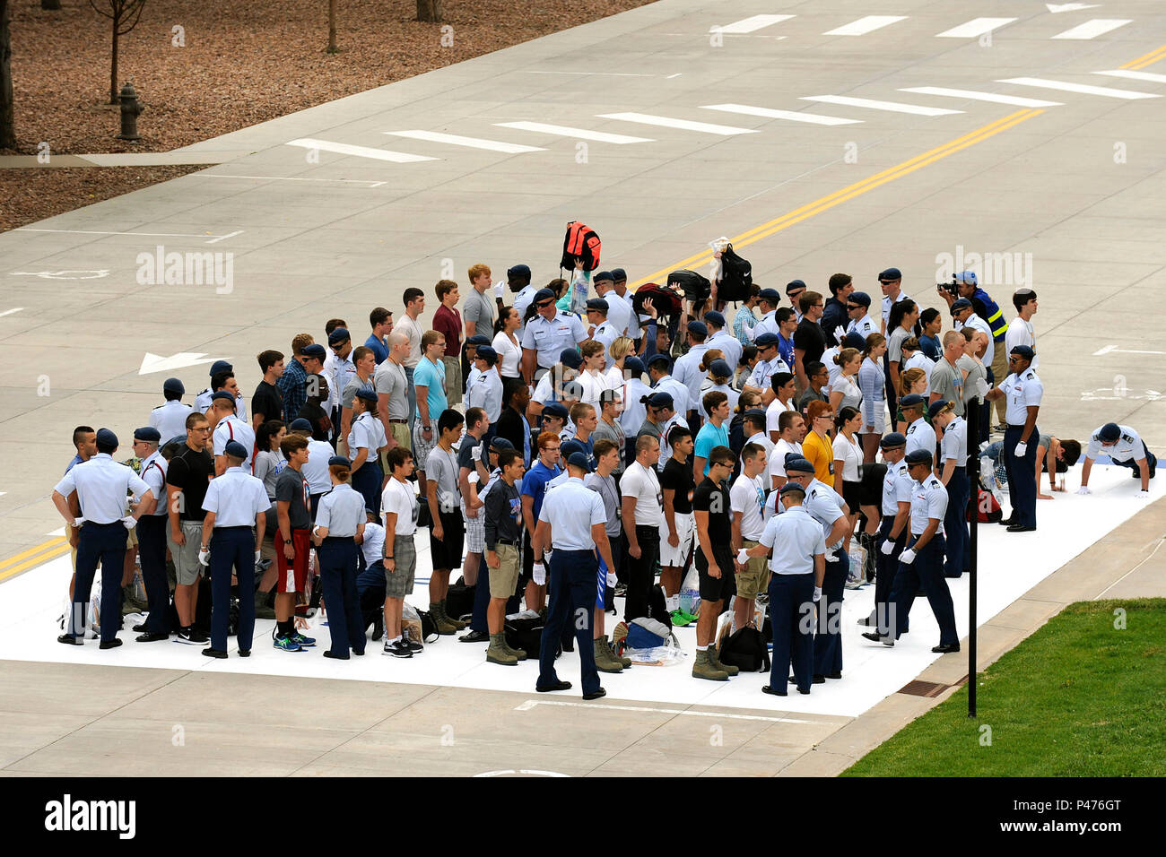 Inprocessing Day for the U S  Air Force Academy Class of