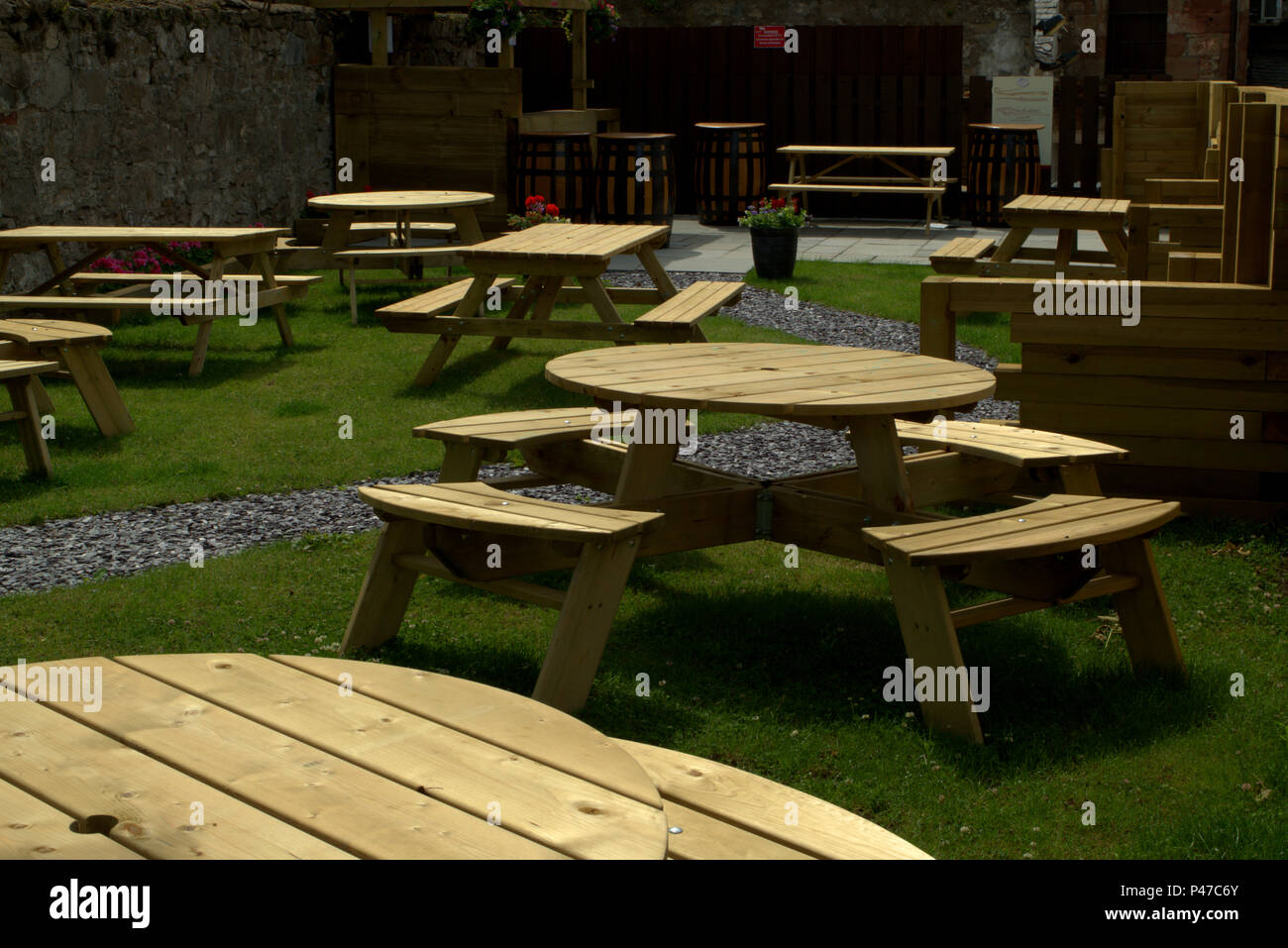 Pub Garden Furniture High Resolution Stock Photography and Images