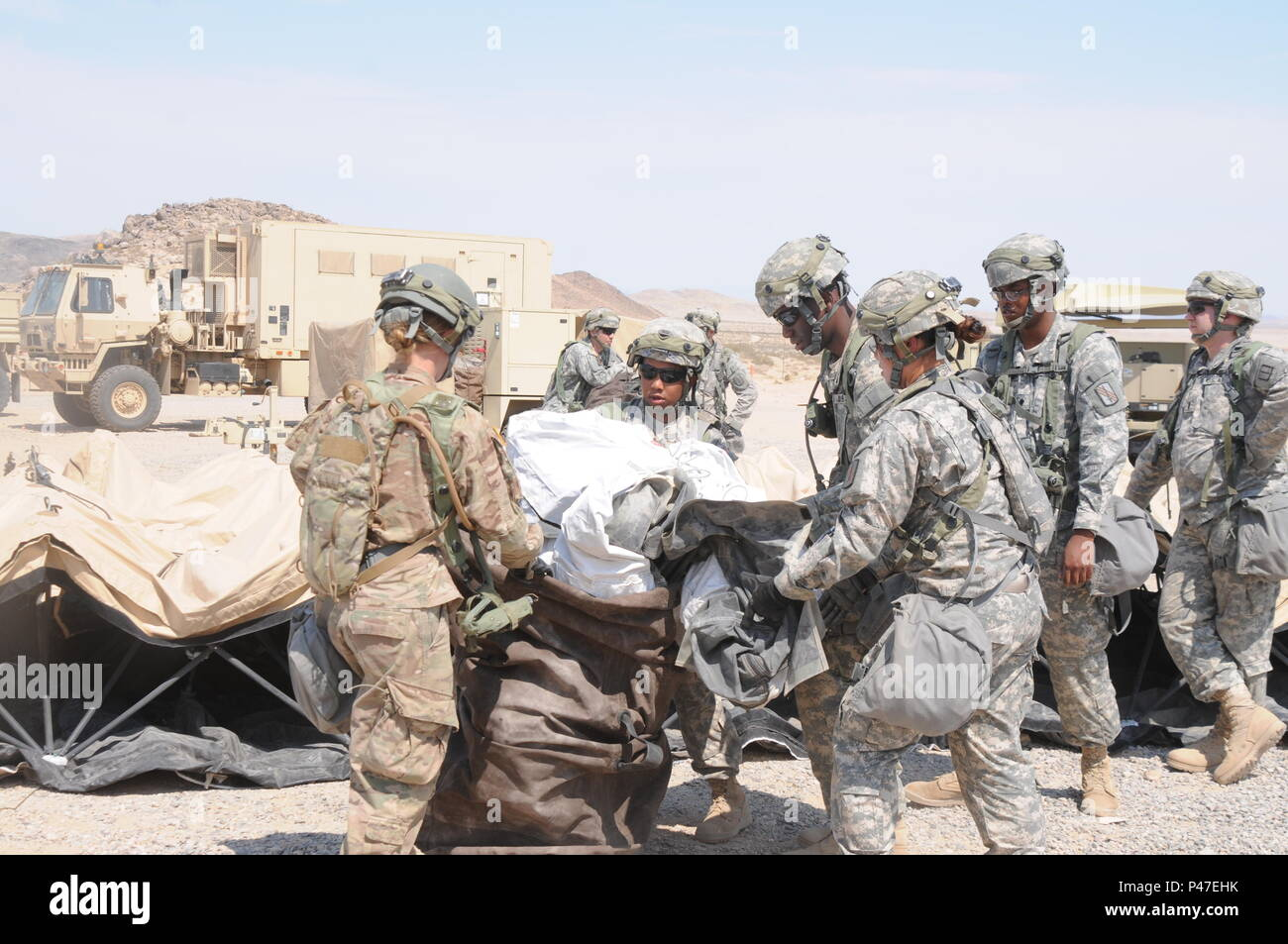North Carolina Army National Guard Soldiers Assigned To The 630th Combat Sustainment Support Battalion Pack Up