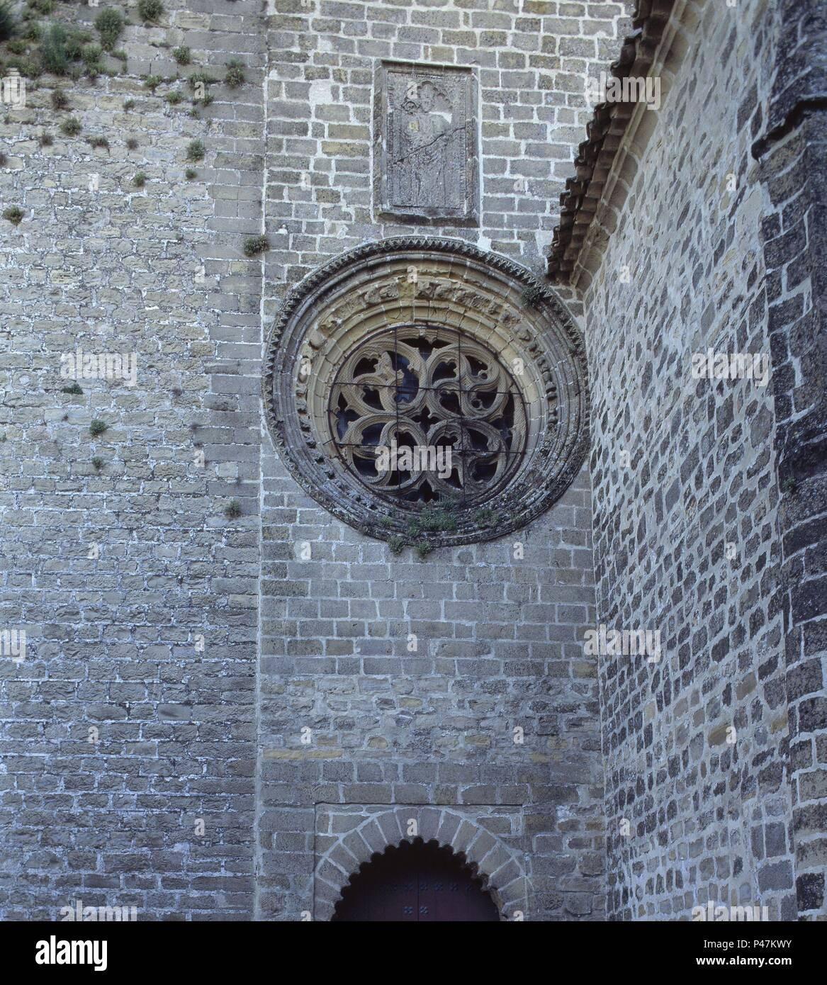 Exterior fachada oeste puerta de la luna y roseton gotico location catedral baeza jaen - Puerta de la luna baeza ...