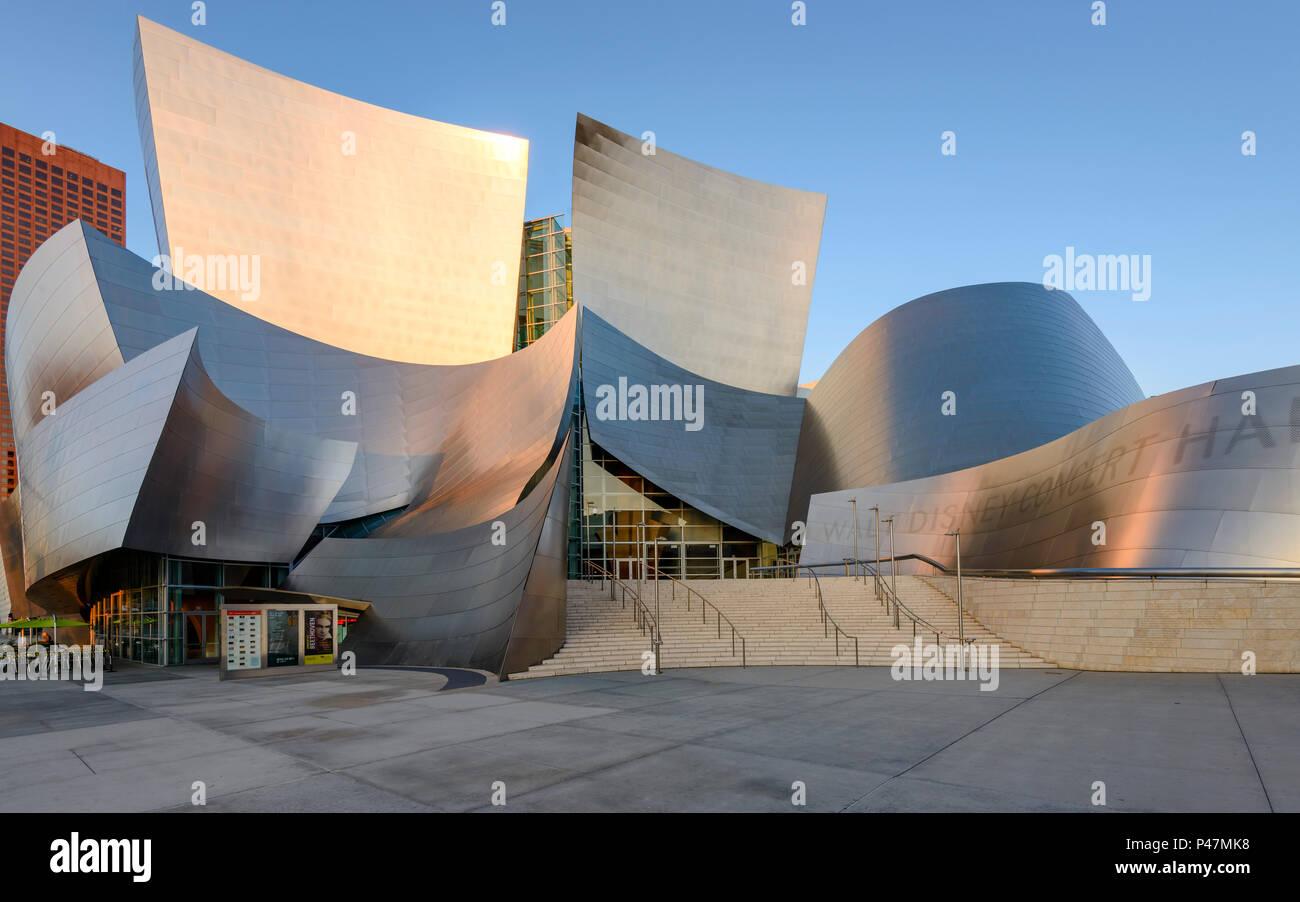 Disney Concert Hall, downtown Los Angeles, California, USA. Stock Photo