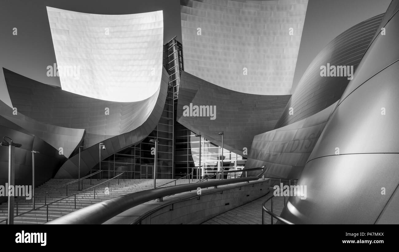 Disney Concert Hall, downtown Los Angeles, California, USA. - Stock Image