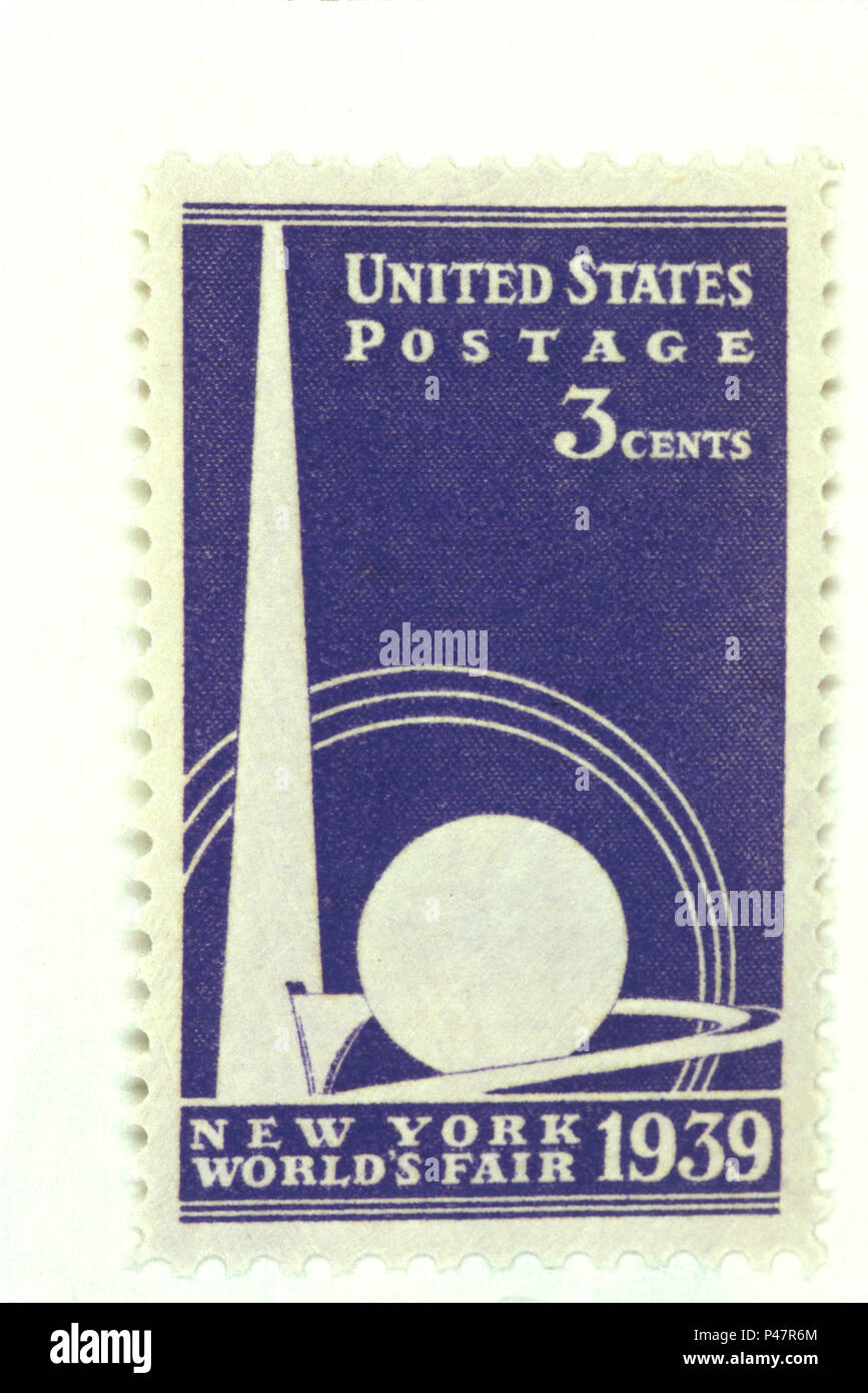 NOT_1198844 US POSTAGE STAMP 3 CENTS new york 1939 world fair - Stock Image