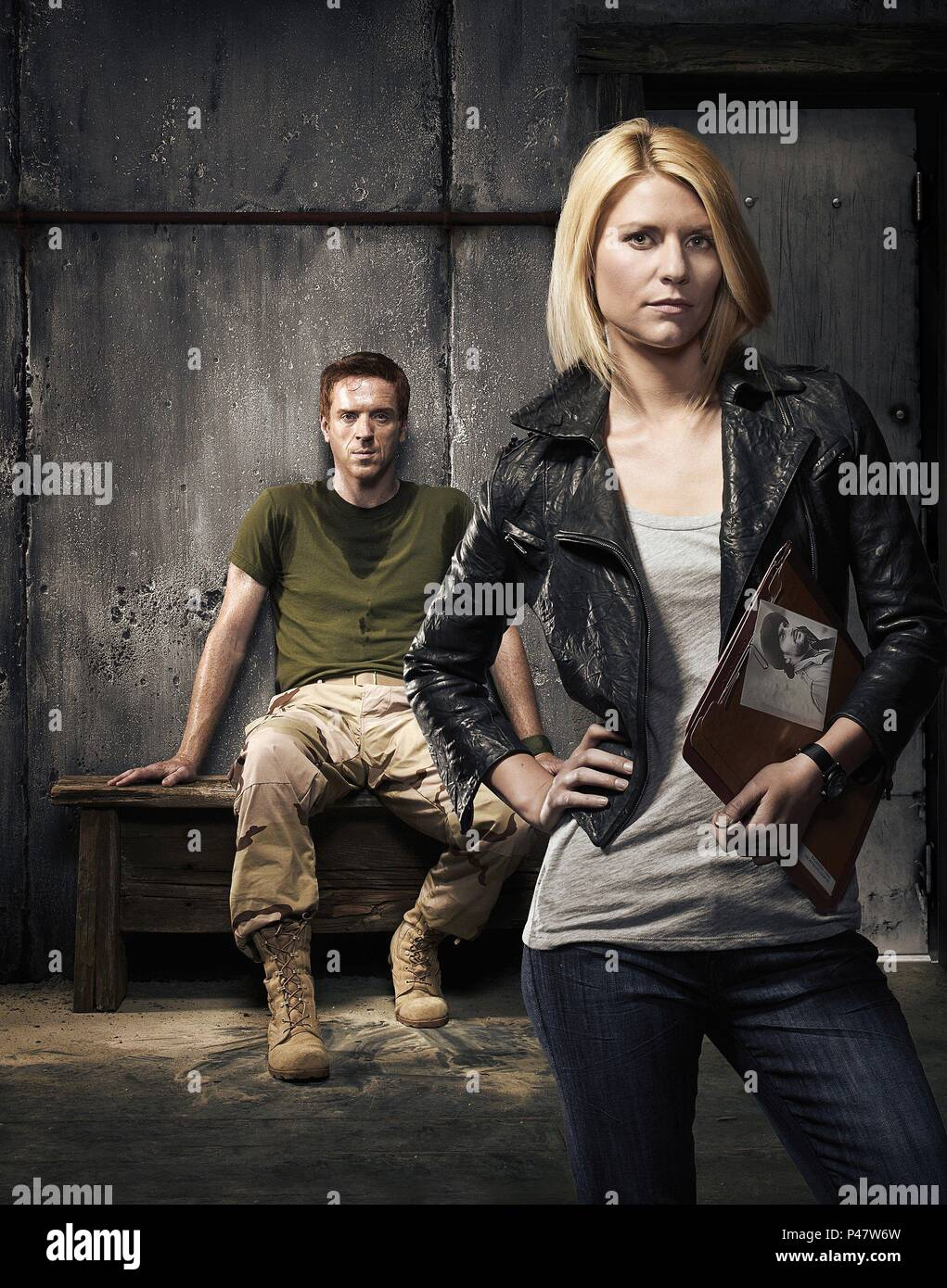 Original Film Title: HOMELAND.  English Title: HOMELAND.  Year: 2011.  Stars: CLAIRE DANES; DAMIAN LEWIS. Credit: FOX 21 / Album - Stock Image