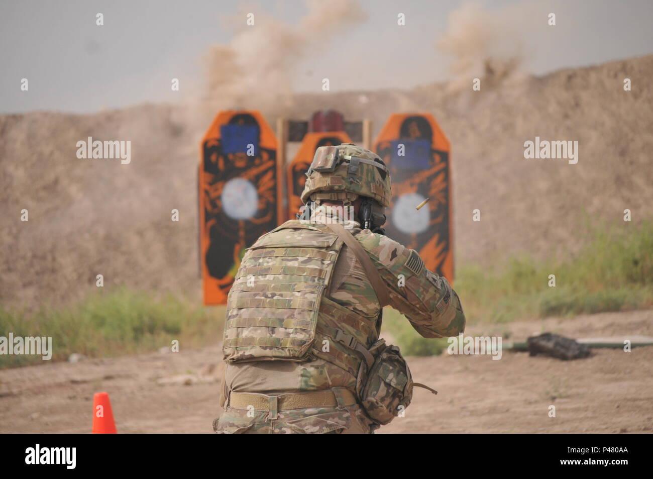 In this file photo taken Jun  8, 2016, at Camp Taji, Iraq