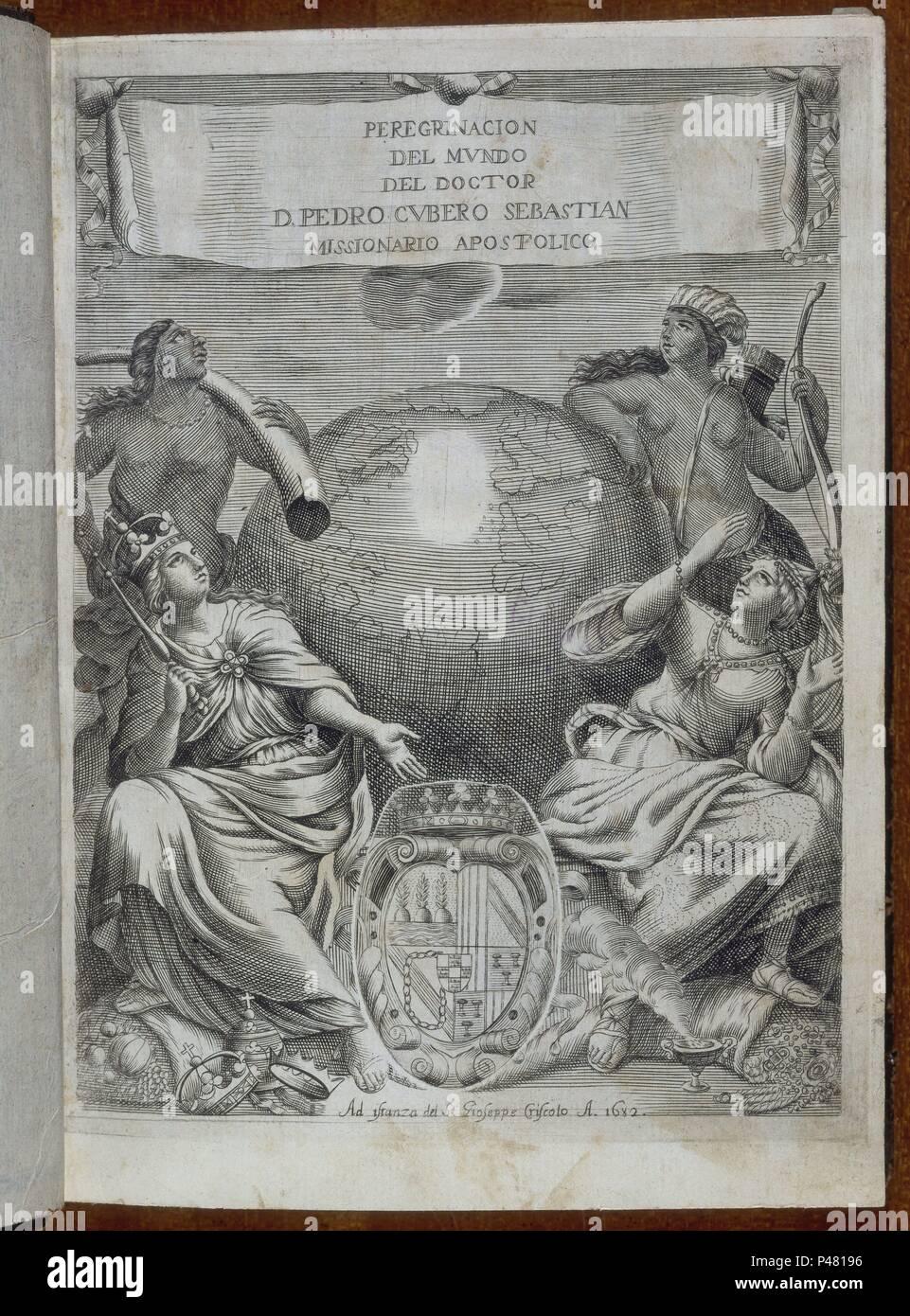 PEREGRINACION DEL MUNDO. Author: CUBERO PEDRO. Location: BIBLIOTECA NACIONAL-COLECCION, MADRID, SPAIN. - Stock Image