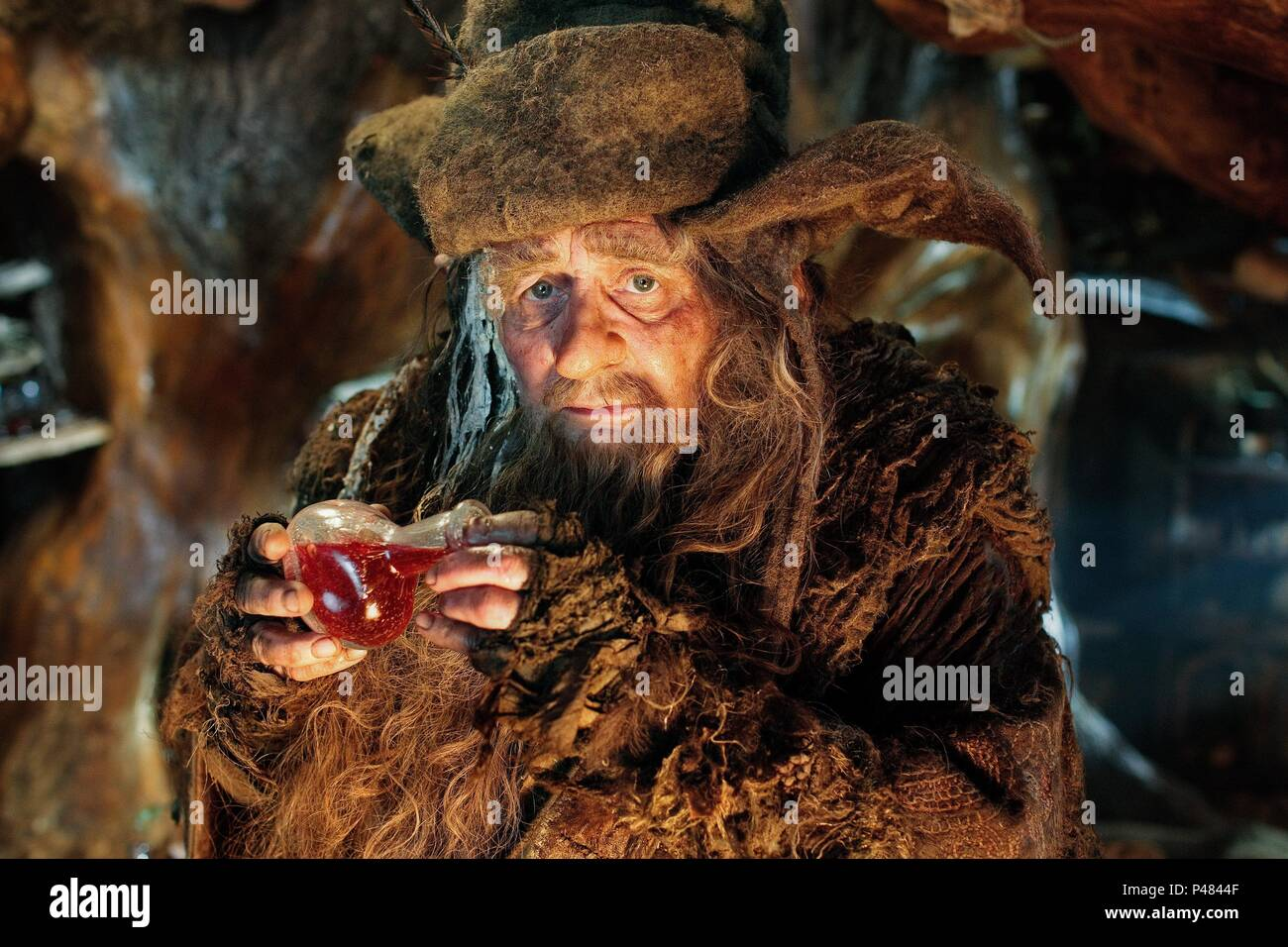 Original Film Title: HOBBIT, THE: AN UNEXPECTED JOURNEY.  English Title: HOBBIT, THE: AN UNEXPECTED JOURNEY.  Film Director: PETER JACKSON.  Year: 2012.  Stars: SYLVESTER MCCOY. Credit: METRO GOLDWYN MAYER / Album - Stock Image