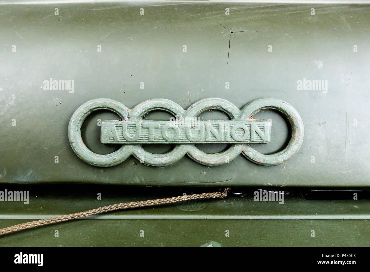 Auto Union Logo On Oldtimer Stock Photo 209162920 Alamy