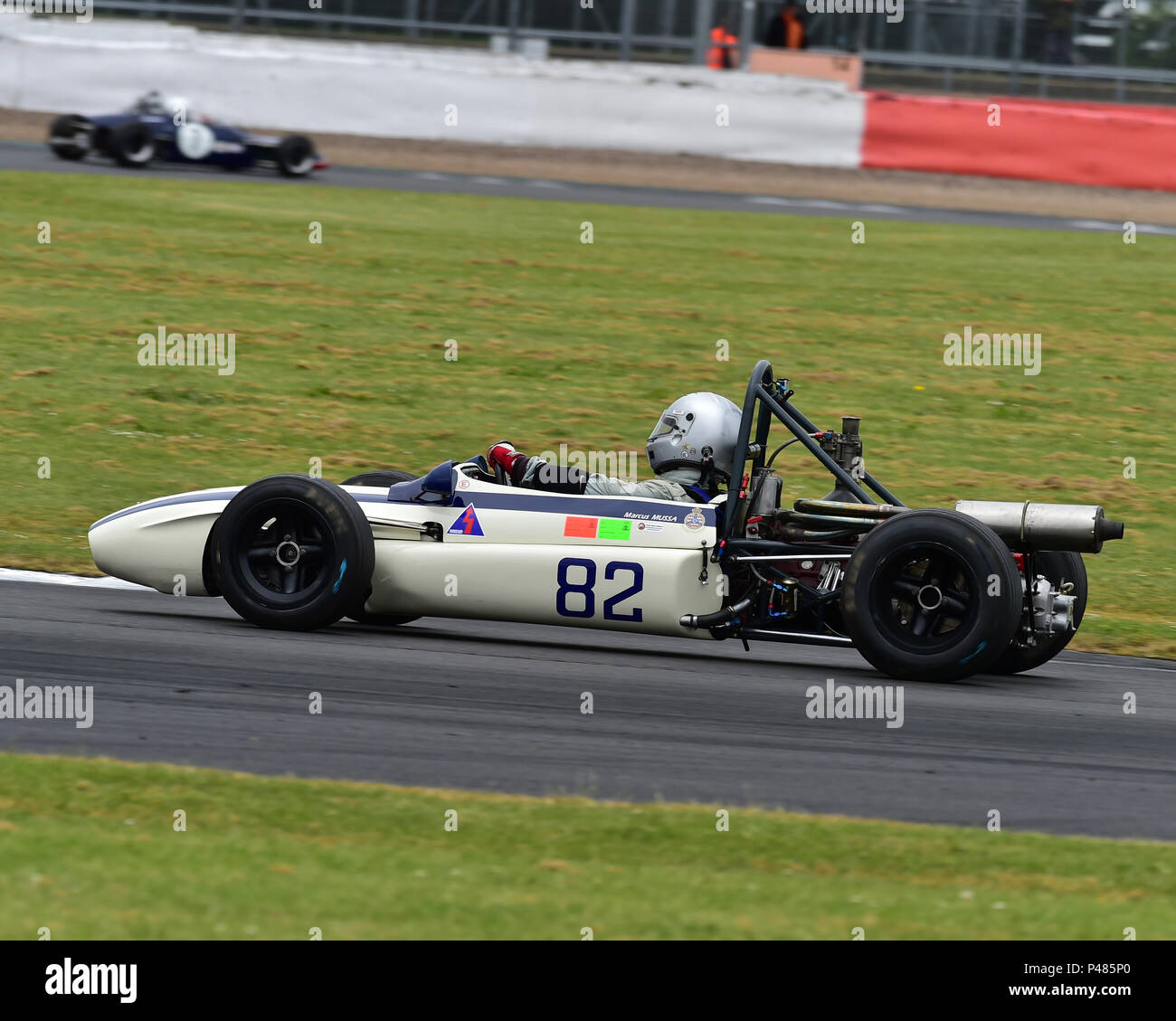 Marcus Mussa, Tecno F3, Historic Formula 3, HSCC, Silverstone International Trophy Historic Race Meeting, June 2018, cars, Classic Racing Cars, Histor - Stock Image