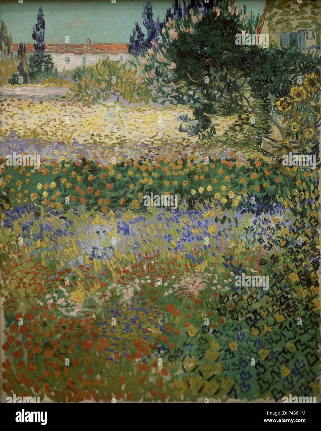 Garden In Bloom, Arles   1888   Oil On Canvas   92x73 Cm. Author: Vincent  Van Gogh (1853 1890). Location: METROPOLITAN MUSEUM OF ART, NEW YORK.