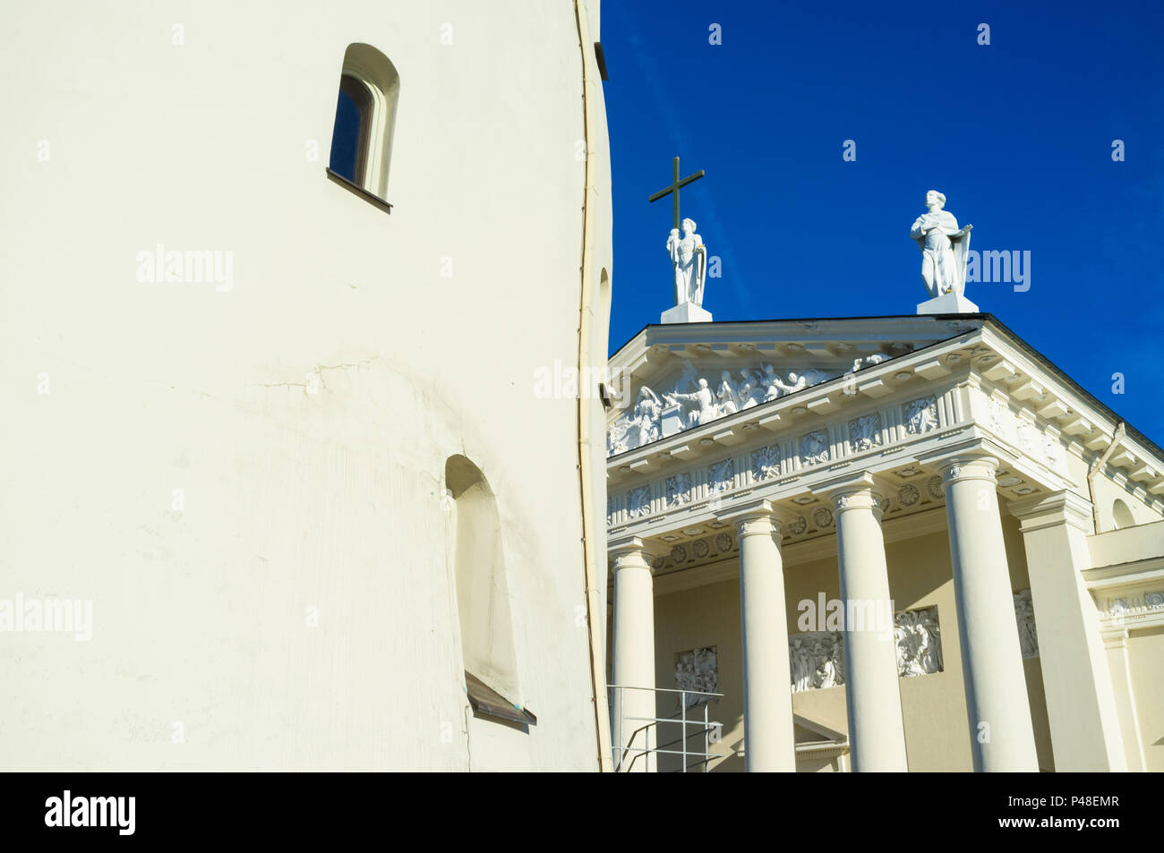 Vilnius Cathedral and belfry. Vilnius, Lithuania, Europe - Stock Image