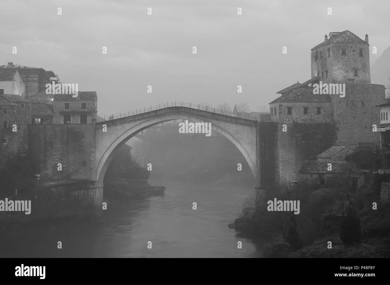 Old bridge in Mostar, Bosnia and Herzegovina - Stock Image